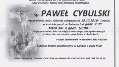 Zmarł Paweł Cybulski. Żył 76 lat.