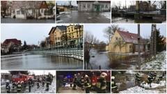 Powiat Nowodworski. Cofka, podtopienia, pożar w Jantarze, wypadek w Kmiecinie, gołoledź i oblodzenia - 05.01.2016