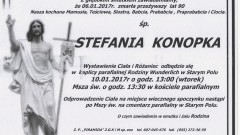 Zmarła Stefania Konopka. Żyła 90 lat.
