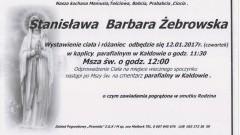 Zmarła Stanisława Barbara Żebrowska. Żyła 87 lat.