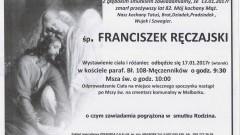 Zmarł Franciszek Ręczajski. Żył 82 lata.