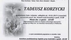 Zmarł Tadeusz Korzycki. Żył 69 lat.