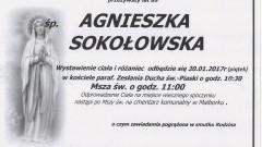 Zmarła Agnieszka Sokołowska. Żyła 89 lat.