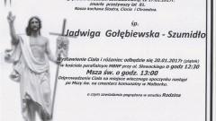Zmarła Jadwiga Gołębiewska - Szumidło. Żyła 81 lat.