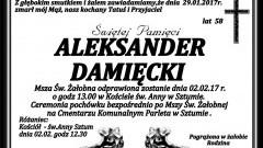 Zmarł Aleksander Damięcki. żył 58 lat.