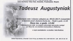Zmarł Tadeusz Augustyniak. Żył 84 lata.