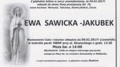 Zmarła Ewa Stawicka-Jakubek. Żyła 76 lat.