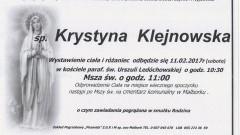 Zmarła Krystyna Klejnowska. Żyła 65 lat.