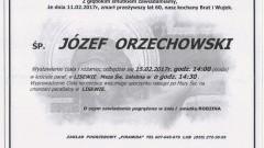 Zmarł Józef Orzechowski. Żył 60 lat.