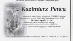 Zmarł Kazimierz Penca. Żył 98 lat.