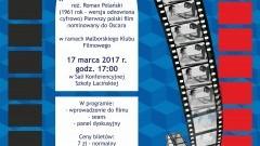 """Malborski Klub Filmowy zaprasza na seans filmu Romana Polańskiego """"Nóż w wodzie"""" - 17.03.2017"""