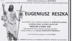 Zmarł Eugeniusz Reszka. Żył 81 lat.