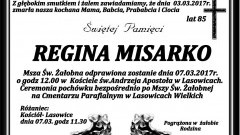 Zmarła Regina Misarko. Żyła 85 lat.