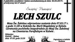 Zmarł Lech Szulc. Żył 67 lat.