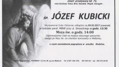 Zmarł Józef Kubicki. Żył 72 lata.