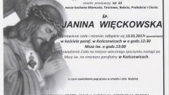 Zmarła Janina Więckowska. Żyła 93 lata.