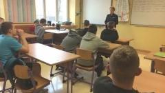 Spotkanie malborskiej Policji z wychowankami Ośrodka Wychowawczego. - 14.03.2017