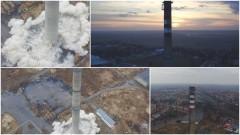 Wyburzenie komina dawnych WZPOW w Kwidzynie. Zobacz materiał wideo