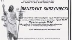 Zmarł Benedykt Skrzyniecki. Żył 64 lata.
