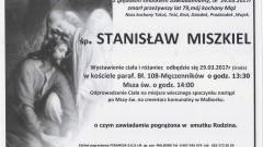 Zmarł Stanisław Miszkiel. Żył 79 lat.