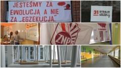 """""""Jesteśmy za ewolucją nie egzekucją"""" Protest nauczycieli w Malborku – 31.03.2017"""