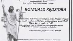 Zmarł Romuald Kędziora. Żył 66 lat.