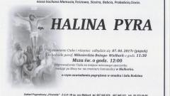 Zmarła Halina Pyra. Żyła 91 lat.