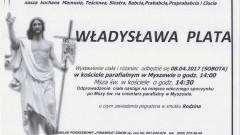 Zmarła Władysława Plata. Żyła 91 lat.