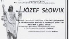 Zmarł Józef Słowik. Żył 77 lat.