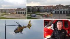 Mężczyzna spadł z dużej wysokości. Zabrał go śmigłowiec. Weekendowy raport malborskich służb mundurowych - 10.04.2017