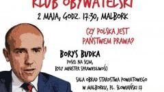 Malbork. Zapraszamy na spotkanie z posłem Borysem Budką - 02.05.2017