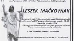 Zmarł Leszek Maćkowiak. Żył 64 lata.