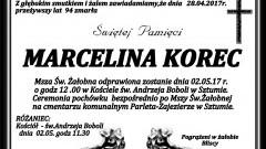 Zmarła Marcelina Korec. Żyła 94 lata.