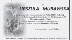 Zmarła Urszula Murawska. Żyła 76 lat.
