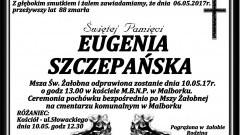 Zmarła Eugenia Szczepańska. Żyła 88 lat.
