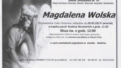 Zmarła Magdalena Wolska. Żyła 10 lat.