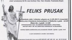Zmarł Feliks Prusak. Żył 94 lata.