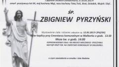 Zmarł Zbigniew Pyrzyński. Żył 64 lata.