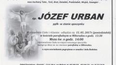 Zmarł Józef Urban. Żył 76 lat.