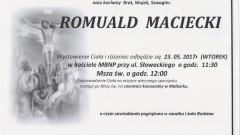 Zmarł Romuald Maciecki. Żył 82 lat.