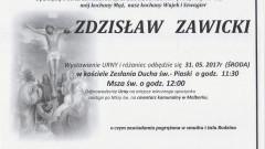 Zmarł Zdzisław Zawicki. Żył 64 lata.