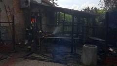 Malbork: Spłonęło pomieszczenie gospodarcze w Kałdowie - 20.06.2017