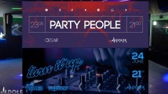 Party People ● music: Cesar ● 23/06 - Turn It Up ● music: Rome B / Lagocky ● 24/06. Club Dołek w Malborku zaprasza