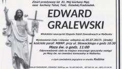 Zmarł Edward Gralewski. Żył 81 lat.
