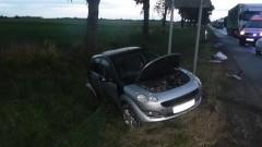 Nocny wypadek w miejscowości Jazowa, obywatelka Litwy w bardzo ciężkim stanie - 04.07.2017