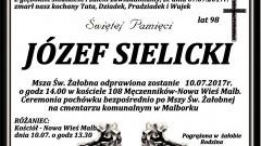Zmarł Józef Sielicki. Żył 98 lat.