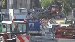 Sztum: Kolejny etap prac na DK nr 55. Zerwany asfalt od ronda do przepustu między jeziorami - 10.07.2017