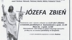 Zmarła Józefa Zbień. Żyła 88 lat.