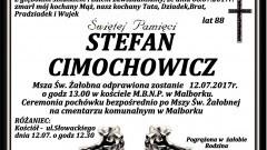Zmarł Stefan Cimochowicz. Żył 88 lat.