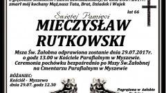 Zmarł Mieczysław Rutkowski. Żył 66 lat